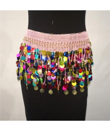 Sexy Sequined Bandage Mini Skirt Women High Wiast Two Wearing Styles Tassel Coins Summer Beach Super Short Skirts - feng se ...