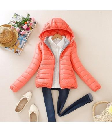 2018 super warm winter parka jacket coat ladies women jacket Slim Short padded women - Pink - 4M3012337791-3