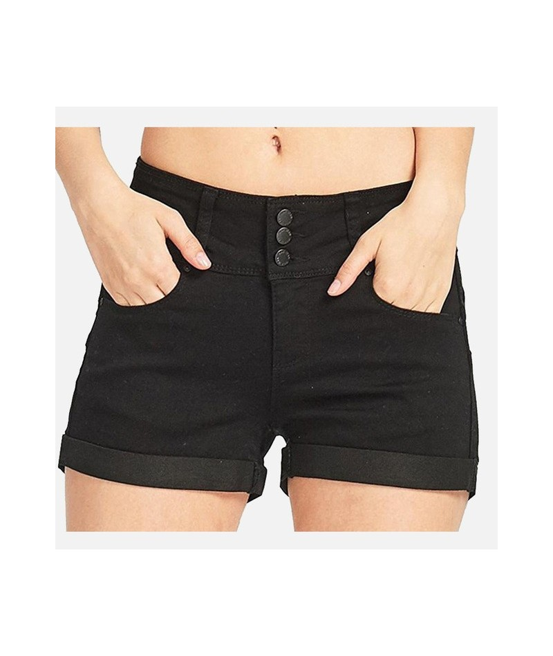 Women's High Waist Denim Shorts Plus Size 3XL Jeans Button Zippers Pocket Shorts Female 2019 Spring Summer Fashion Women Clo...