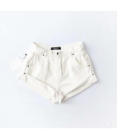 Jeans Elastic High Waist Vintage Women' Shorts Denim Wide Leg Cuffs Drawstring Loose Shorts Female 2019 Summer Fashion Short...