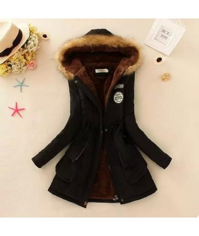 Winter Warm Coat Women Long Parkas Fashion Faux Fur Hooded Womens Overcoat Casual Cotton Padded Jacket Mutil Colors - Black ...