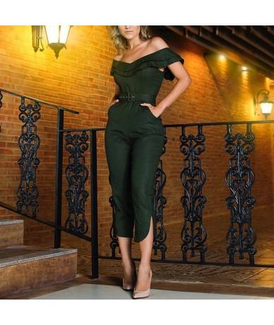 Women's Ruffles Clubwear Playsuit Bodysuit Party Jumpsuit Romper Trousers Fashion Women Casual Short Sleeve Long Pants Bodys...