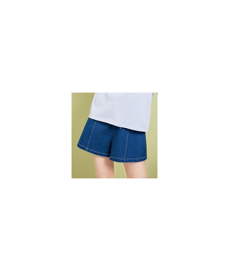 2019 Summer Women's Shorts Loose Comfortable Denim Shorts Fashion High Waist Casual Bow Shorts For Women KN10595C - Blue - 4...