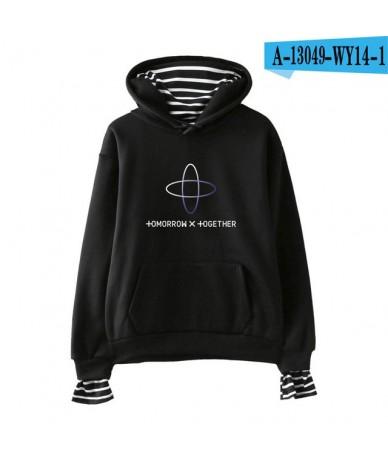 TXT Two Pieces Hoodie Sweatshirt Tomorrow X Together Hoodie Sweatshirt Fashion Casual New Hoodie Sweatshirt - black - 413096...