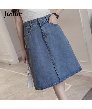 Summer Jeans Skirt Women Young Chic Harajuku Skirts Denim Ladies Novelty Street Leisure High Waist A Line Blue Jupe Femme - ...