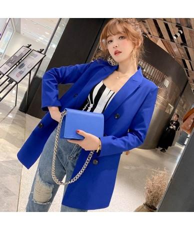 Womens Jackets And Coats White Blazer Women Formal Jackets Office Work Ladies Blazer Femme Coat mujer 2019 feminino - Blue -...