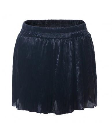 Summer Silver Black Green Sexy Polyester Shorts Women Shorts High Waist Female Bottom Sexy Party Beach Style Ruffles - Black...