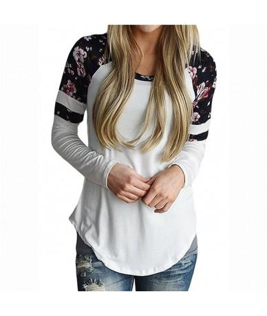 Women Print Floral T Shirt Spring T-Shirt O-neck Long Sleeve Casual Tops Ladies Spring Autumn Shirts Tops Plus Size 5XL 6Q22...