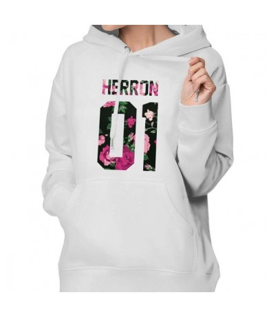 Why Dont We Hoodie Zach Herron Colorful Flowers Hoodies Over Sized Cotton Hoodies Women Simple Graphic Pullover Hoodie - Whi...