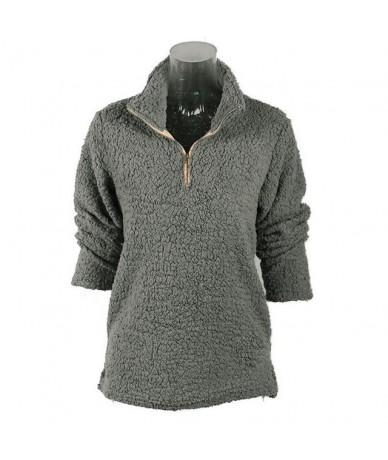 2019 Autumn And Winter New Khaki Women Sweatshirt Warm Plush Pullover Plus Size Women Sweatshirt - Dark Grey - 474168207795-2