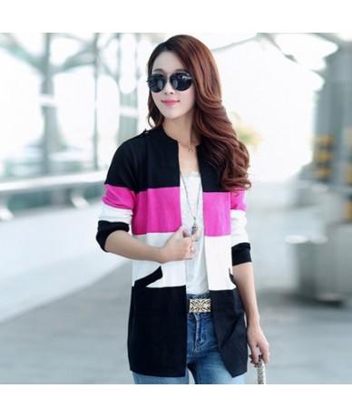 2017 Spring and Autumn new long coat sweater coat Korean fashion was thin loose knit cardigan women women cardigan sweater -...