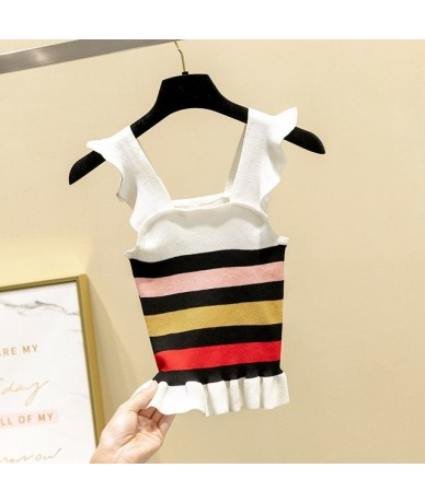 Hot Sale Fashion camis tank tops sexy Women Knitwear Sleeveless Tops Shirt Blouse Casual T-Shirts multicolors strap tops - w...