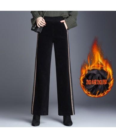 High Quality Corduroy Wide Leg Pants Femme 2018 Hot Sale Casual High Wasit Ankle-Length Pants Warm Autumn Winter Women Trous...
