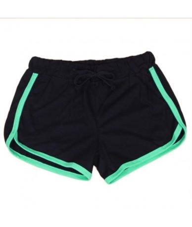 Causal Summer Girls Women Short Multicolors Shorts Ladies Cotton Soft Cozy Elastic Skinny Patchwork Shorts Size S/M/L - Blac...