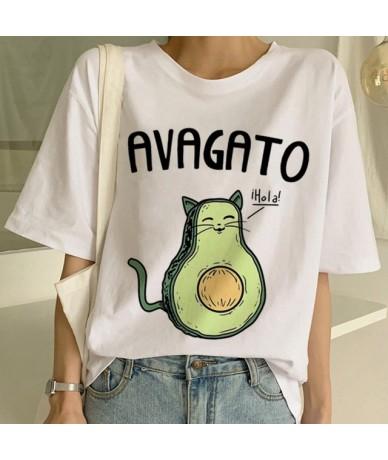Cartoon Avocado Vegan Short Sleeve Cute T-shirt Womens Small Fresh Casual T Shirt Harajuku Ullzang Tshirt Fashion Top Tee Fe...