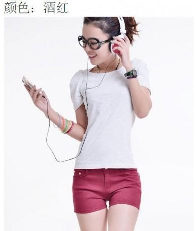 Summer Denim Shorts Slim Fit Candy Color Pantalones Cortos Mujer Short Pants Plus Size XXXL Short Women Jeans Shorts Denim -...