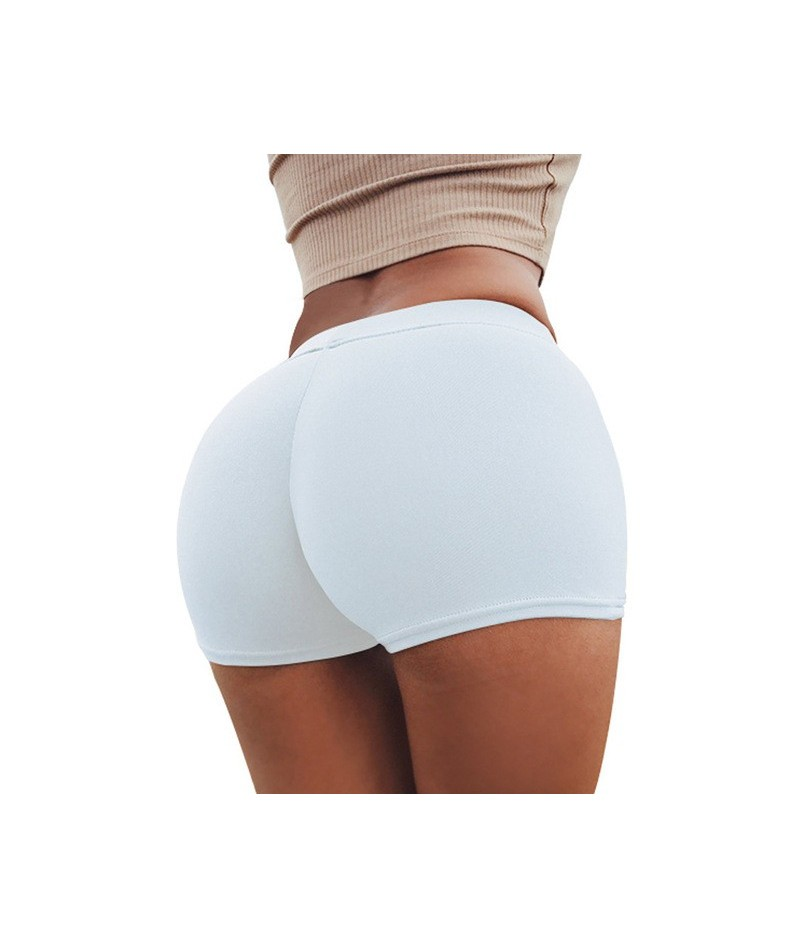 Short Femme Sexy White Black Summer High Waist Elastic Fitness Shorts Women Leisure Female Short Mujer - White - 4M3953944900-8