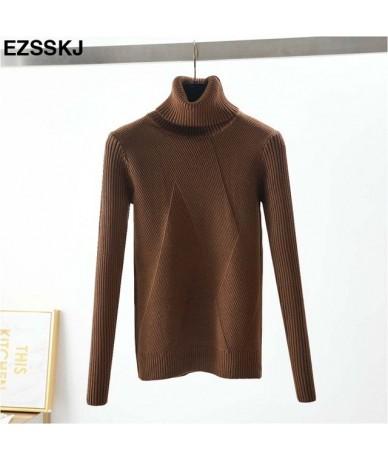 chic Autumn winter thick Sweater Pullovers Women Long Sleeve casual warm basic turtleneck Sweater female knit Jumpers top - ...