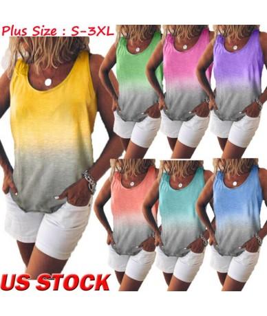 New Women Summer Plain Swing Vest Sleeveless Loose Crop Cami Tops Tank Ladies Girls Flared Plus Size Tops T-Shirt - YELLOW -...