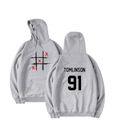 Casual Louis Tomlinson Hoody Hoodies Women Men Unisex Fleece Pullovers Happy Days Sweatshirt Hip Hop Solid Streetwear - gray...