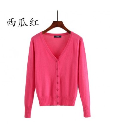 Sweater Women Cardigan plus size Knitted Sweater Coat Crochet Female Casual V-Neck Woman Cardigans Tops 4XL 5XL - 10 - 4Q391...