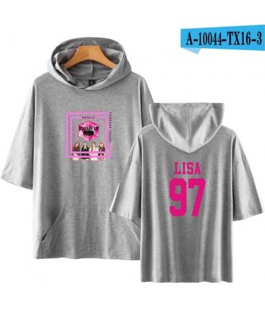2018 harajuku Blackpink kpop Member Lisa 97 Hoodies Sweatshirts women Pop Idol cotton Short Sleeve pink clothes plus size - ...
