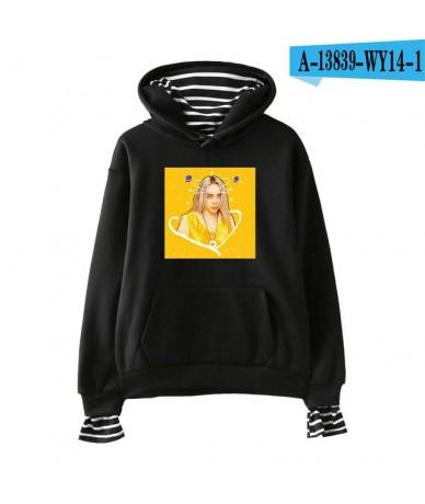 BILIE EILISH print Fashion Street hip hop Fake 2 Pieces Hoodies Sweatshirt comfortable cool casual Basic Hipster Popular - b...