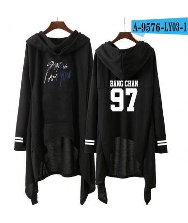 Kpop Stray Kids 2019 spring black women hooded sweatshirt dress New Idol stray kids kpop album i am who Harajuku popular hoo...