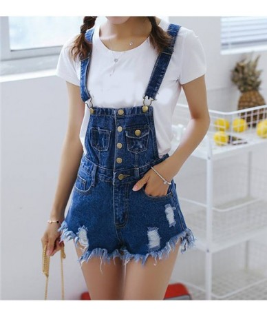 NEW Jumpsuit Women Playsuits Denim Overalls for Womens Rompers Shorts Slim Casual Short Overalls Women Shorts Rompers Tracks...