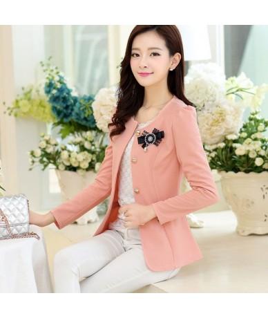 2018 New Ladies Blazer Long Sleeve Blaser Women Suit Jacket Female Office Slim Blazers suit 5XL Plus Size Coat Tops - Pink 4...