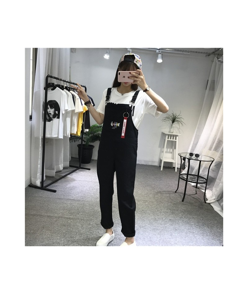 New Trendy Fish Embroidery Women Jumpsuits Casual Womens Overalls Sweet Female Korean Fashion Females Jumpsuit Student Style...