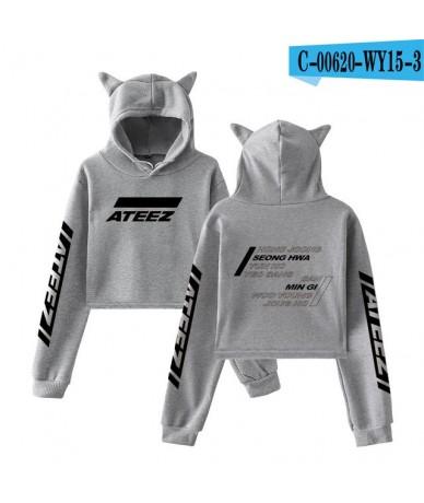 2019 NEW ATEEZ fashion trend sala Cat Crop Top Women summer Hoodies Sweatshirt Sexy hot Hoodies Harajuku plus Size XXL - WY1...