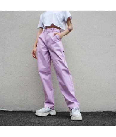 Loose High Waist Women's Pants Cotton Full Length Trousers Women 2018 Fashion Stretch Streetwear Cargo Pants Women - 4130435...