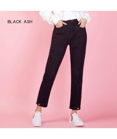 New Arrival Spring harem casua loosel women jeans Mid-waist black retro loose plus size jeans for women 9003 - black 9003 - ...