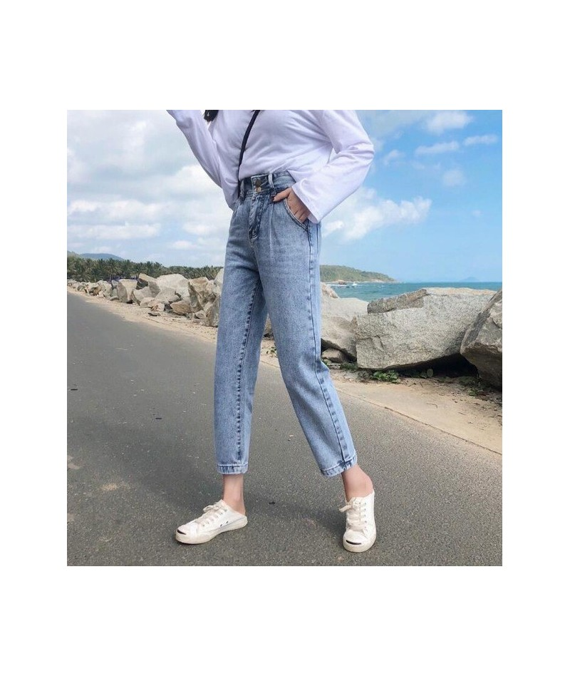 Newest Arrivals Fashion Hot Women Lady Denim Pants 2019 Spring Summer High Waist Jeans For Women Ankle-Length Casual Jeans -...