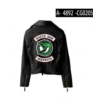 New Riverdale PU Printed Logo Southside Riverdale Serpents Jackets Women Riverdale Serpents Streetwear Leather Jacket Custom...