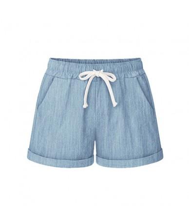 women Plus Size Shorts Summer 2019 Streetwear Solid Casual Drawstring Running Gym Sports summer shorts Women short feminino ...