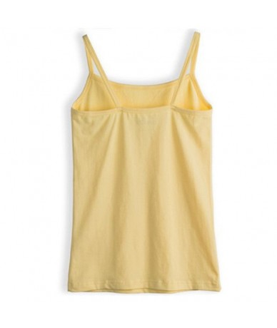 New Fashion Solid Cotton White Strap Tank Top Women Camisole Sexy Sleeveless Slim Vest Ladies Casual Underwear Top Female - ...