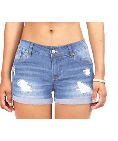 shorts Women shorts Elastic high waisted denim jeans Blue black short female Body Enhancing Denim Shorts Plus size sexy shor...