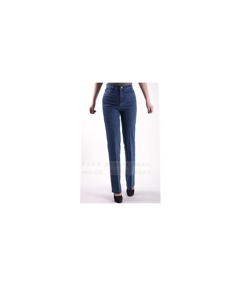 2019 New arrival pants straight jeans women plus size women's denim trousers - liaght blue - 7583300454-3
