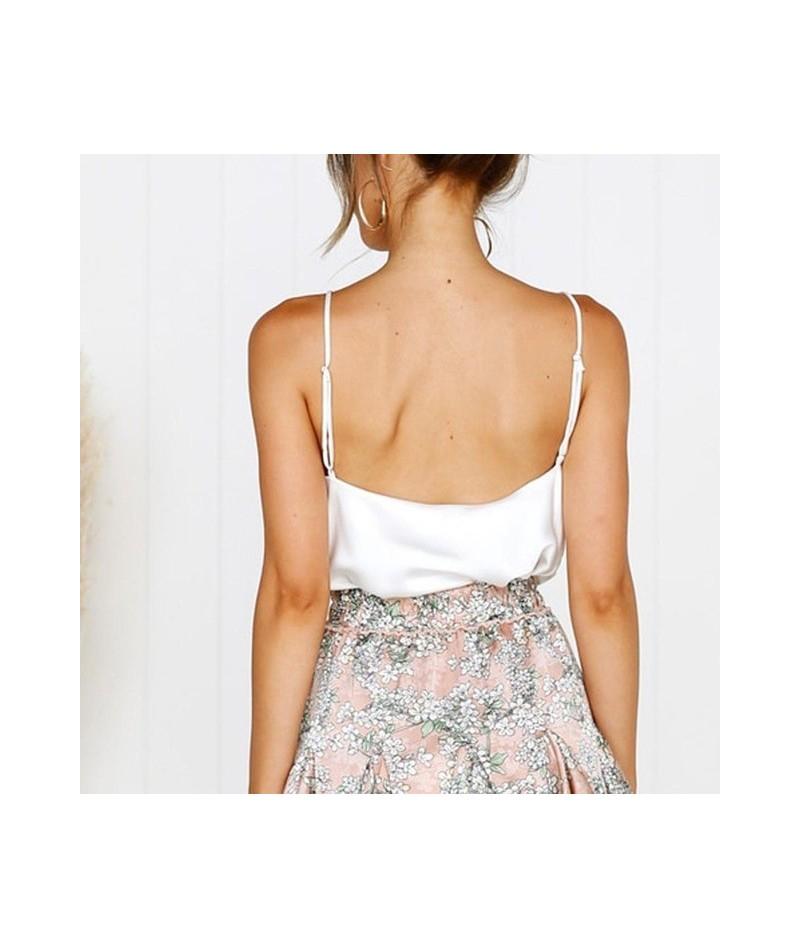 Satin Women Thin Wild Solid Camis Vest Women Tank Tops Female 2019 Summer Sexy Strap Basic Tops Chiffon Sleeveless Camisole ...
