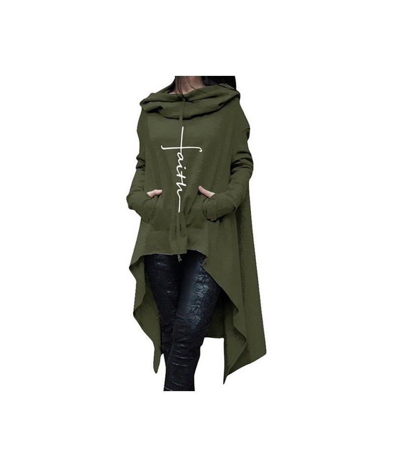 2019 Fall Gothic Plus Size Black Casual Women Long Hoodies Loose Hooded Pocket Print Gray Tops Office Ladies Female Sweatshi...