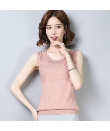 Crop Sleeveless Knitted Female Sexy Tank Tops Elasticity Casual Loose Women Vest 2019 Fashion Solid Summer Hauts Pour Dames ...