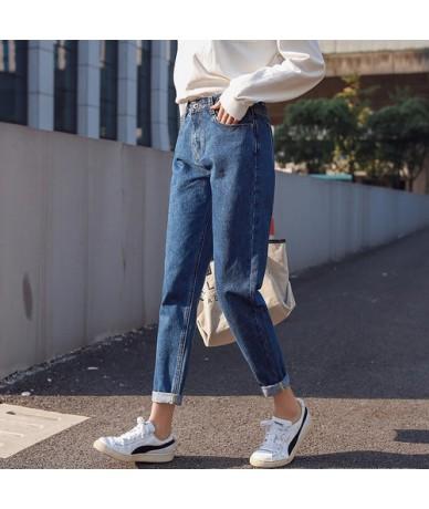Casual Loose Black Jeans Woman High Waist Boyfriend Jeans For Women Plus Size New 2019 Spring Summer Denim Jeans Pants Trous...