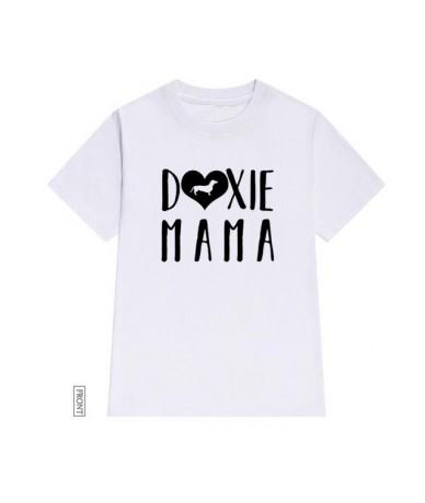 Doxie Mama dachshund Women tshirt Cotton Casual Funny t shirt Lady Yong Girl Top Tee Drop Ship S-631 - White - 424155225946-4