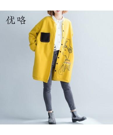 Kawaii Cartoon Printed Women Winter Jacket Korean Plus Size Thicken Velvet Coat Cardigan Windbreaker Cortaviento Mujer 4XL 5...
