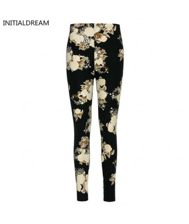 Brand Flowers Printed Elasticity Leggings Fashion Chinese Style Women Printing Pant Leggins Ankle-Length Female - 10 - 4P394...