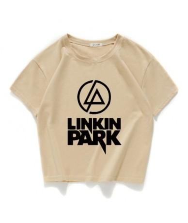 Fashion high quality Linkin Park Women tshirt Girl Casual 100% Cotton Short T-shirt women loose crop top Summer women tops t...