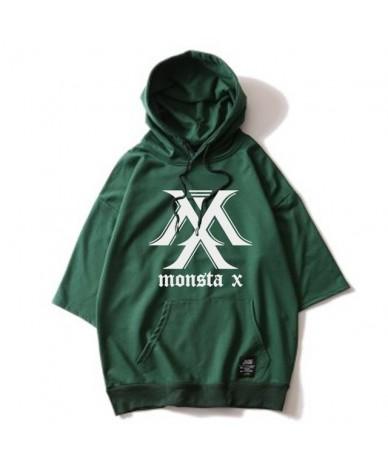 Kpop MONSTA X Album Hoodie Loose Hoodies Clothes Pullover Printed Three Quarter Sleeves Sweatshirts WY552 - MONSTA X - 4F393...