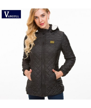 Winter Jacket Women Thick Warm Hooded Parka 2018 New Slim Down cotton clothing Long sleeve Coat Female Autumn Outerwear - Bl...